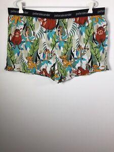 Peter Alexander The Lion King mens patterned pyjama shorts size 2XL cotton