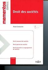 Alexis CONSTANTIN Droit des sociétés Mémento Dalloz