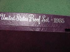 1985 U.S. MINT PROOF SET  5 Coin Set  SEALED Coins  W/ U.S. Mint Box
