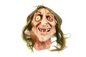VTG Sea Hag Snow White Witch Old Lady Full Head Latex Mask Costume Halloween