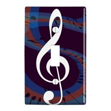 Treble Clef on Music Notes Plastic Wall Decor Toggle Light Switch Plate Cover