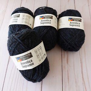Schachenmayr Aventica Supreme yarn ~ Lot of 4 ~ 98 Navy Heathered ~ Chunky Wt
