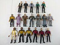 Vintage 1993 1994 Star Trek The Next Generation Lot of 18 Figurines