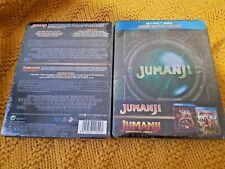 Jumanji Welcome To The Jungle + Jumanji Blu-Ray Embossed Steelbook New & Sealed+