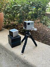 RIF6 CUBE Portable Mini Projector - Silver, includes all cords, tripod, speaker