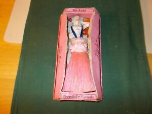 1900S MY LADY BOUDOIR BRUSH IN ORIGINAL BOX PINK BRUSH PORCELAIN FACE AND BODY