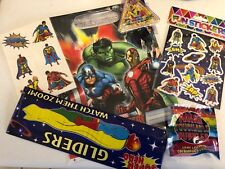 6 Item Avengers Pre Filled Goody Bag, Ready Made Birthday Party Loot Favours