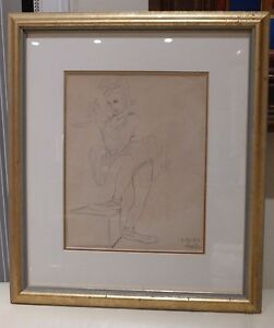 Hal Ambro Walt Disney Studios Animator 1940 Signed Original Animation Drawing