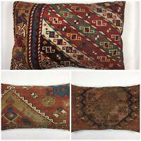 Carpet Cushion Cover 60x40cm, 24x16in Old Vintage Antique Kilim pillow Boho Chic