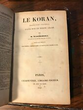 1841 The Koran French Language Religion Islam Islamic Muslim Rare Collectible