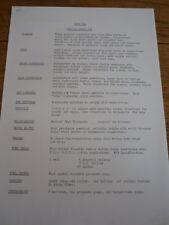 """LOLA TYPE 324 SUPER VEE SPEC SHEET """"BROCHURE"""""""