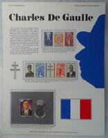 Postal Commemorative Society World Of Stamps Series Charles De Gaulle