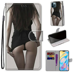 3D Sexy Women Girl Cool Flip Card Wallet Stand Case Back Cover For Various Phone