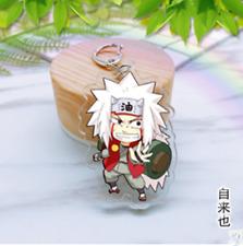 Hot Japan Anime Naruto hero Jiraiya Acrylic Key Ring Pendant Keychain Gift