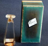 Complimentary Vintage Clear Glass Perfume Bottle & Box from Veolay (Violet)