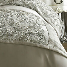 Kylie Minogue Alexa Silver Sequin Satin 45cm X 225cm Quilted Bed Runner