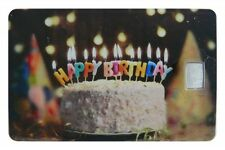 Geschenkkarte Motivkarte Silberbarren 999er Silber 1g Gramm Geburtstag Birthday