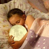 3D LED Magical Moon Night Light Moonlight Table Desk USB Moon Lamp Rome Decor
