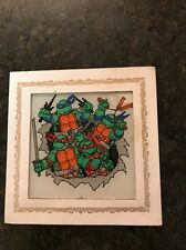 Vintage Teenage Mutant Ninja Turtles TMNT Carnival Glass Mirror Prize 6x6