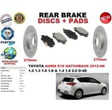 für Toyota Auris E18 Fließheck ab 2012 Bremsscheiben SET HINTEN+BREMSBELÄGE