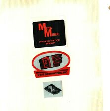 3 DIFFERENT NICE METAL MINER GLOVES COAL MINING STICKERS # 850