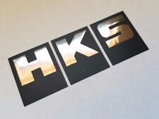 HKS Sticker decal vinyl racing turbo power Flat Black Black chrome other colors