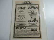 VINTAGE Newspaper Concert Ad 1980 Coliseum Ohio Queen Yes The Kinks Ted Nugent