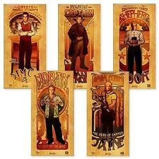 Qmx Firefly Serenity Art Nouveau Les Femme And Les Homme Poster Set Of 9 24�x12�