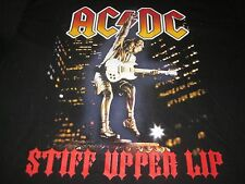 ACDC STIFF UPPER LIP VINTAGE CA AND UK TOUR TEE SHIRT XL AC/DC METAL CLEAN