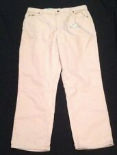 NWT Lee BLUSH PINK Relaxed Fit Straight Leg Jeans Womens 18 Medium
