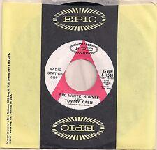 Tommy Cash- Six White Horses b/w I Owe The World To You 45 Promo