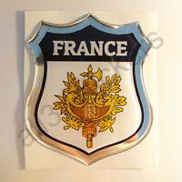 Autocollant France Emblème Armoiries Blason Adhésif France 3D Résine Voiture