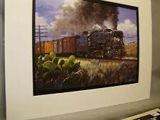 Texas Pacific RR Steam El Paso from  Texarkana  Artist Railroad Archives ee