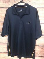 Mens Nike Golf Dri Fit Short Sleeve Polo Shirt Navy Blue Size XL