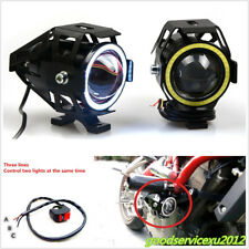 2 Pcs 125W CREE LED U7 Motorcycle ATV Spot Lamp Headlight Driving Lights &Switch