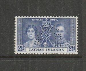 Cayman Islands 1937 Coronation Perf SPECIMEN 2 1/2d UM/MNH SG 114s, see note