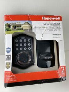 Honeywell Digital Deadbolt Oil-Rubbed Bronze Keyless Entry 2 Keys 8712409