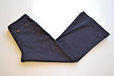 LAURA ASHLEY 3/4 Length Trousers Chino Pants Cropped Navy Blue Womens W27 L22.5