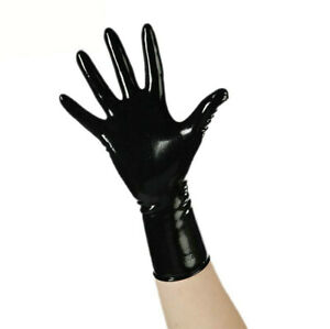 100% Latex Black Rubber Over Wrist Compression Molded Mitten/Gloves S-XL 0.4mm