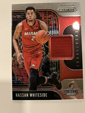 2019-20 Prizm Hassan Whiteside Sensational Swatches Game Used Jersey Heat RF