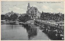 Königsberg in Preußen Neue Schloßteichbrücke Postkarte ca. 1926