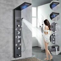 Oil Rubbed Bronze Shower Panel Tower Wall Mount Shower Faucet Set Massage System
