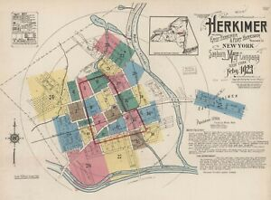 Herkimer, New York~Sanborn Map©~sheets ~27 maps in full color high resolution