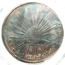 1824-MO JM Mexico Republic 8 Reales Hook Neck Coin (8R) - PCGS XF Details