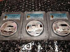 2010 Tuvalu TRUCKS 1oz Silver Coin Set (3) PCGS PR70DCAM (POP = 1)