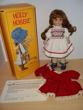Gorham Holly Hobbie Porcelain Doll With Box Spring Plus Extra Outfit