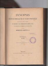 synopsis rerum moralium et iuris pontificii-bendicto ojetti S.I.-volume primo -