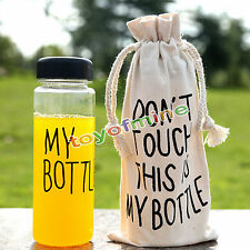 500ml Portable Clear Fashion My Bottle Sport Plastic Fruit Juice Water Cup Bag