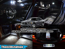 White LED Interior Dome Visors Door Cargo License Lights Kit 2011-2014 Charger