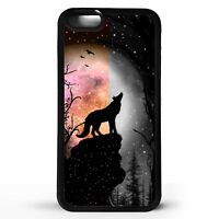 Wolf howling wolves howl stars silhouette art graphic animal phone case cover